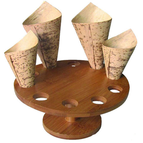 10 Hole Wood Cone Holder/Display/Case of 2