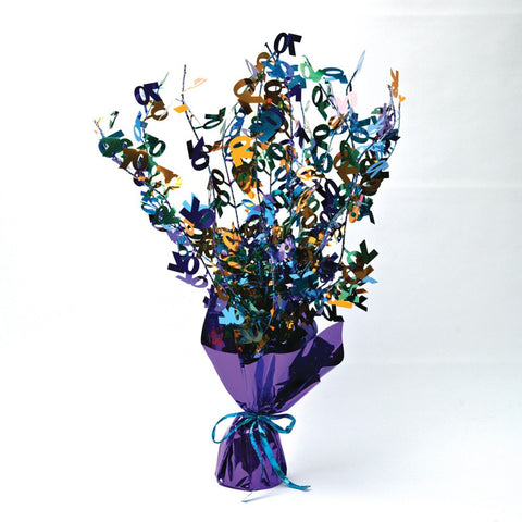 Bright And Bold Foil Spray Centerpiece 60th/Case of 6