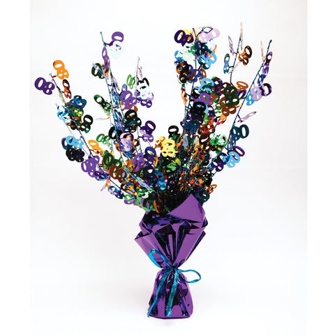Bright And Bold Foil Spray Centerpiece 70th/Case of 6