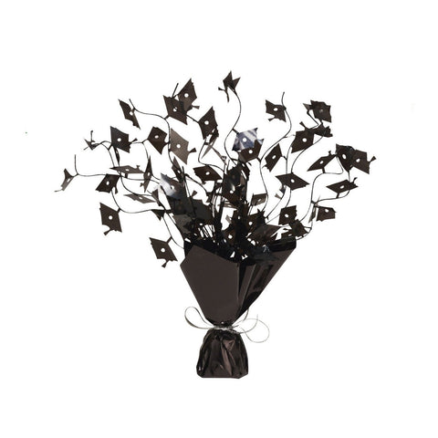 Mortarboards Black Foil Spray Centerpiece/Case of 6