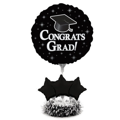 Graduation Black Air Filled Balloon Centerpiece Kit/Case of 4