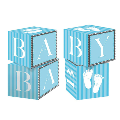 Blokc Centerpiece Sweet Baby Feet Blue/Case of 6