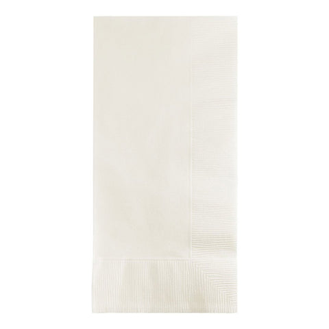 2 Ply 1/8 Fold Dinner Napkins Bulk White/Case of 600