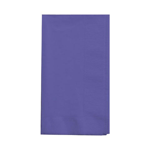 2 Ply 1/8 Fold Dinner Napkins Bulk Purple/Case of 600