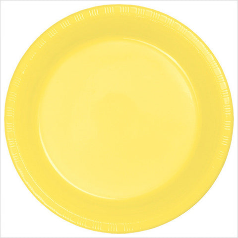 10 inch Plastic Banquet Plate Mimosa/Case of 240