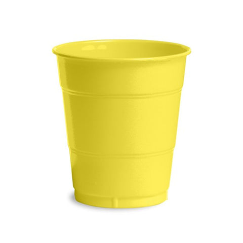 12 oz Solid Plastic Cups Mimosa/Case of 240