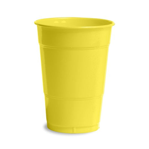 16 oz Solid Plastic Cups Mimosa/Case of 240