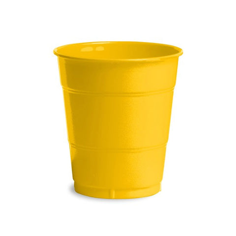 12 oz Solid Plastic Cups School Bus Yellow/Case of 240