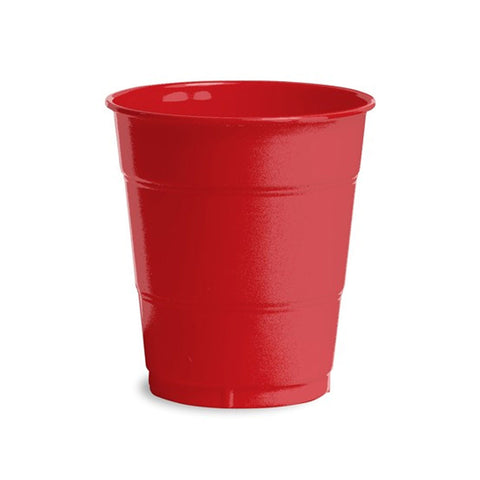 12 oz Solid Plastic Cups Classic Red/Case of 240