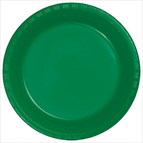 10 inch Plastic Banquet Plate Emerald Green/Case of 240