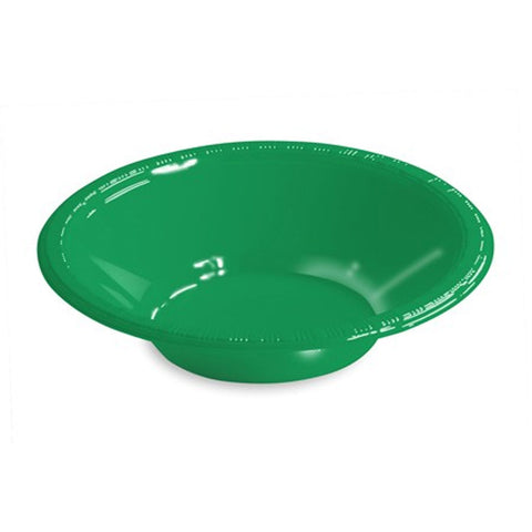 12 oz Plastic Bowls Emerald Green/Case of 240