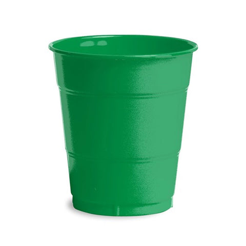 12 oz Solid Plastic Cups Emerald Green/Case of 240