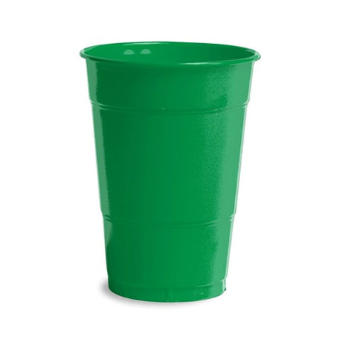 16 oz Solid Plastic Cups Emerald Green/Case of 240