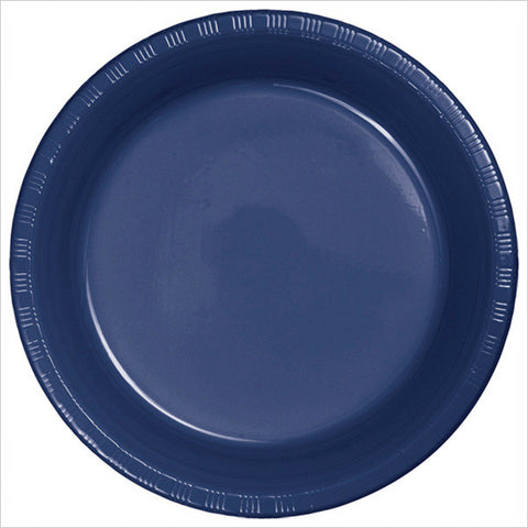 10 inch Plastic Banquet Plate Navy/Case of 240