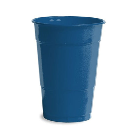 16 oz Solid Plastic Cups Navy/Case of 240