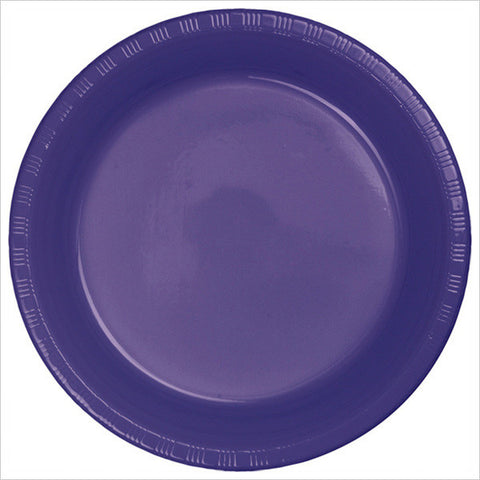 10 inch Plastic Banquet Plate Purple/Case of 240