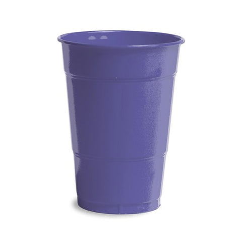 16 oz Solid Plastic Cups Purple/Case of 240