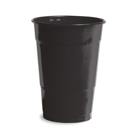 16 oz Solid Plastic Cups Black Velvet/Case of 240