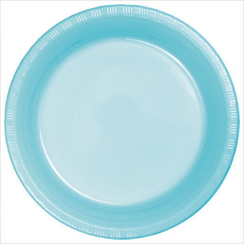 10 inch Plastic Banquet Plate Pastel Blue/Case of 240