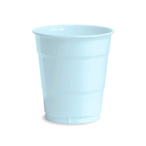 12 oz Solid Plastic Cups Pastel Blue/Case of 240