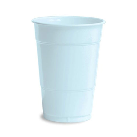 16 oz Solid Plastic Cups Pastel Blue/Case of 240