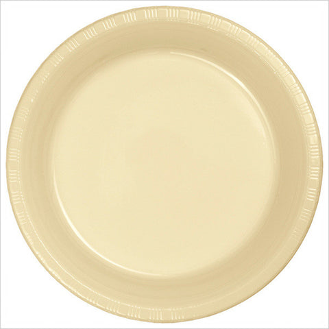 10 inch Plastic Banquet Plate Ivory/Case of 240