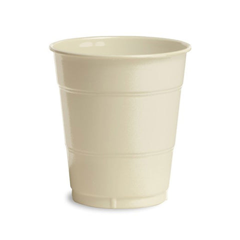 12 oz Solid Plastic Cups Ivory/Case of 240