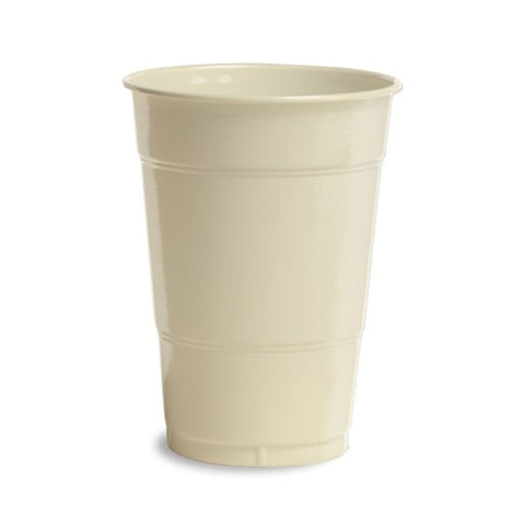 16 oz Solid Plastic Cups Ivory/Case of 240