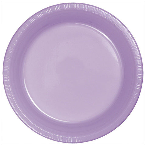 10 inch Plastic Banquet Plate Luscious Lavender/Case of 240