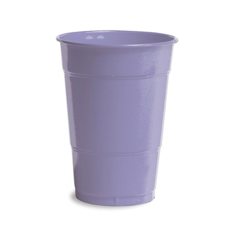 16 oz Solid Plastic Cups Luscious Lavender/Case of 240