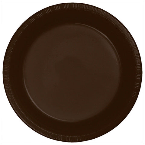 10 inch Plastic Banquet Plate Chocolate Brown/Case of 240