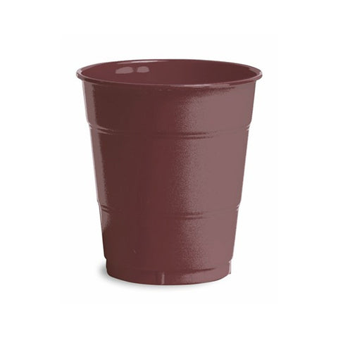 12 oz Solid Plastic Cups Chocolate Brown/Case of 240