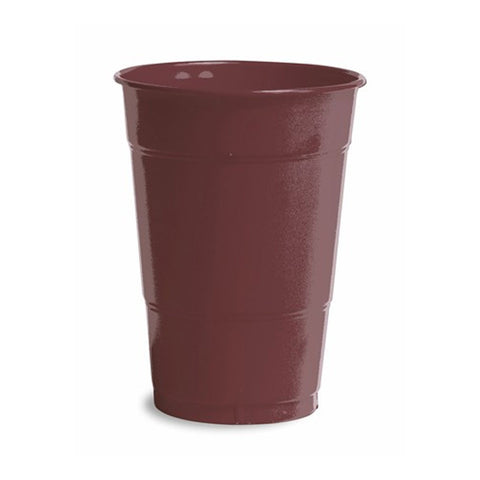 16 oz Solid Plastic Cups Chocolate Brown/Case of 240