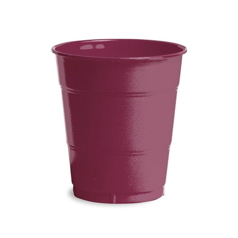 12 oz Solid Plastic Cups Burgundy/Case of 240