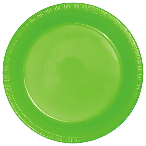 10 inch Plastic Banquet Plate Fresh Lime/Case of 240