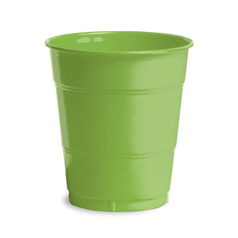 12 oz Solid Plastic Cups Fresh Lime/Case of 240