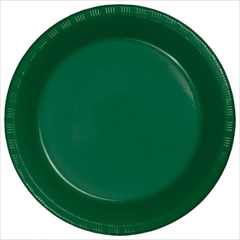 10 inch Plastic Banquet Plate Hunter Green/Case of 240