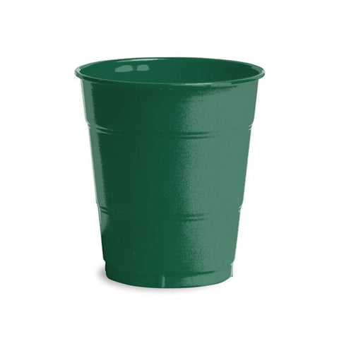 12 oz Solid Plastic Cups Hunter Green/Case of 240