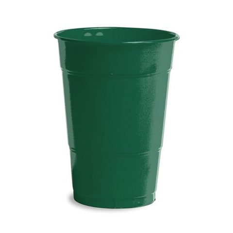 16 oz Solid Plastic Cups Hunter Green/Case of 240