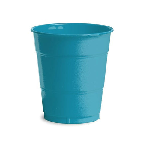12 oz Solid Plastic Cups Turquoise/Case of 240