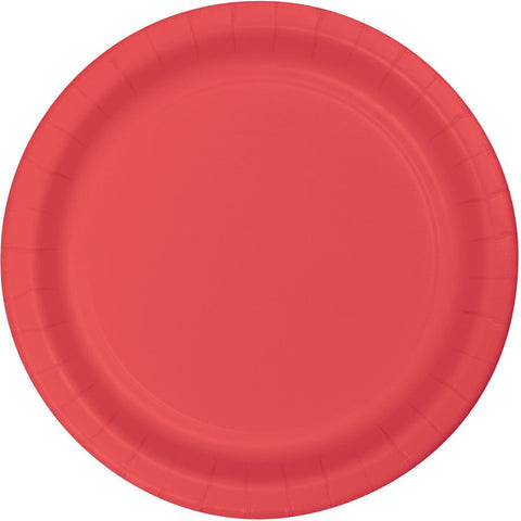 Touch of Color 10 inch Banquet Plate Plastic Coral/Case of 240