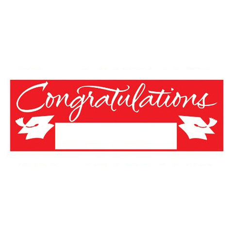 Fill In Classic Red Grad Giant Party Banner 60 Inch x 20 Inch/Case of 6