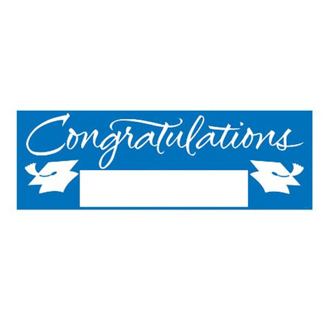 Fill In True Blue Grad Giant Party Banner 60 Inch x 20 Inch/Case of 6