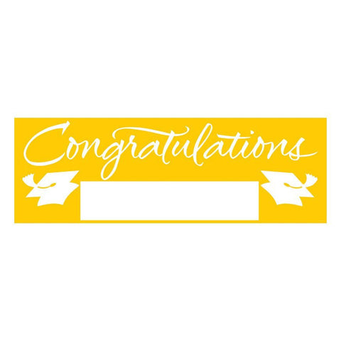 Fill In School Bus Yellow Grad Giant Party Banner 60 Inch x 20 Inch/Case of 6