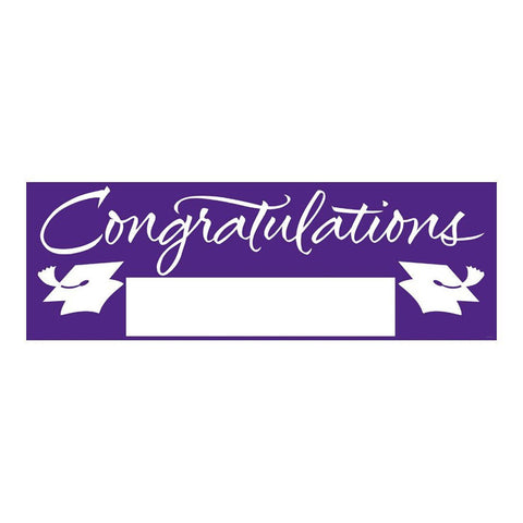 Fill In Purple Grad Giant Party Banner 60 Inch x 20 Inch/Case of 6