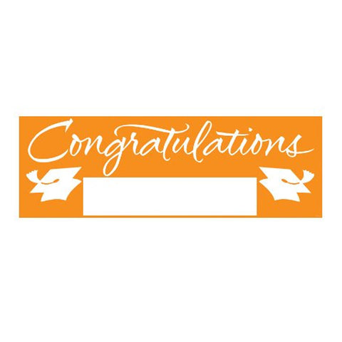 Fill In Sunkissed Orange Grad Giant Party Banner 60 Inch x 20 Inch/Case of 6
