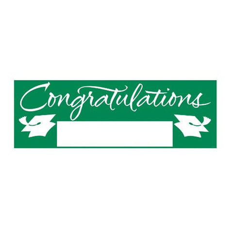 Fill In Emerald Green Grad Giant Party Banner 60 Inch x 20 Inch/Case of 6