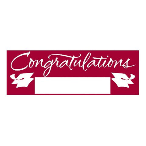 Fill In Burgundy Grad Giant Party Banner 60 Inch x 20 Inch/Case of 6