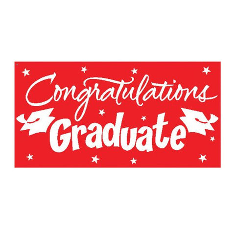 Classic Red Congrats Grad Gigantic Greetings 10 x 5/Case of 6