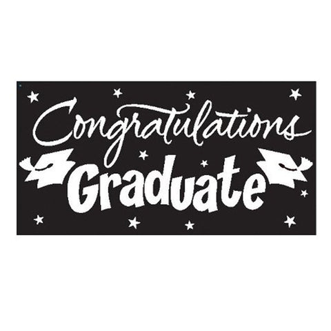Black Velvet Congrats Grad Gigantic Greetings 10 x 5/Case of 6